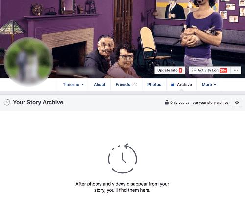 Удалить историю Facebook