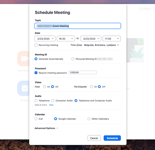 How to Set up Meeting