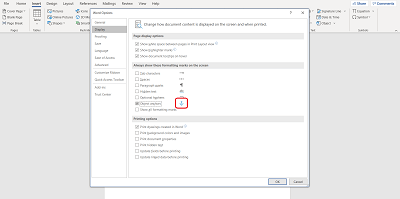 Remove anchor in Microsoft Word