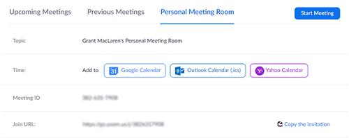 Zoom Enable Waiting Room personal meeting room