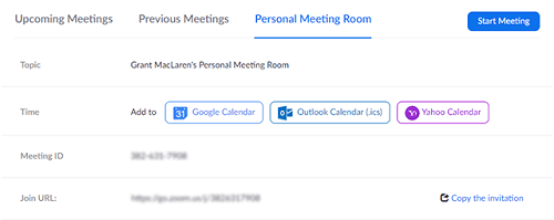 Zoom Activate waiting room personal meeting room