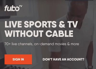 fubo tv sign in
