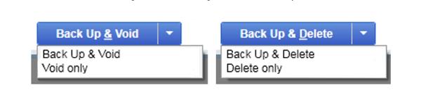 Instant books delete multiple transactions