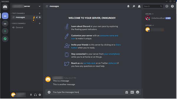 discord message