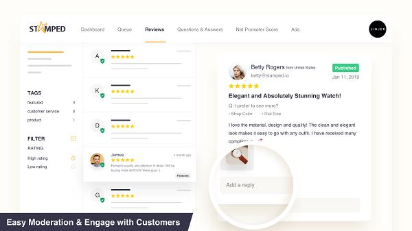 Shopify добавить отзывы