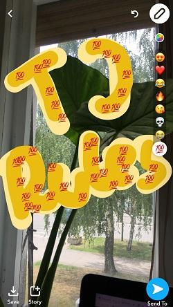 Snapchat How to make your drawing bigger