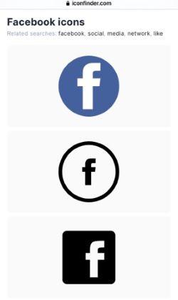 добавить значок facebook
