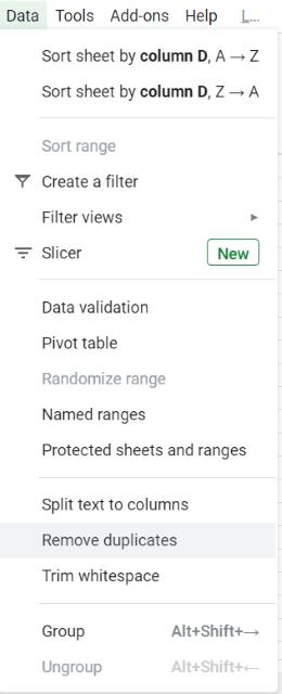 repeats in Google sheets