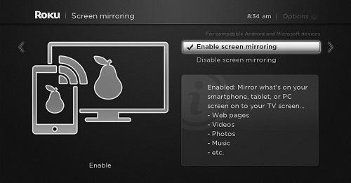 Року экранное зеркалирование