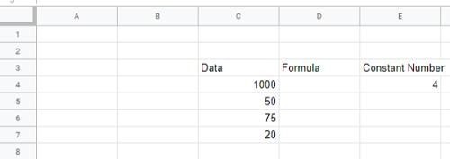 Google Sheets Multiply Column