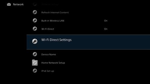 sony tv wifi