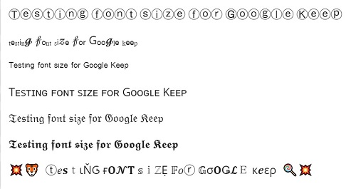 Edit Font Size In Google Keep