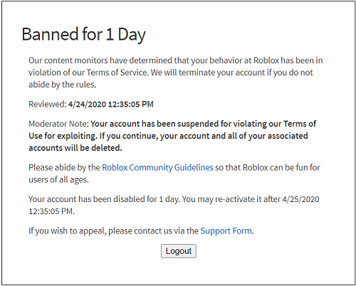 Roblox Tell if Someone Was Banned