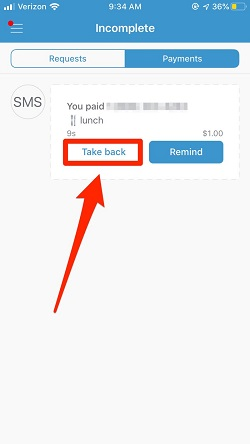 Venmo payments will be canceled