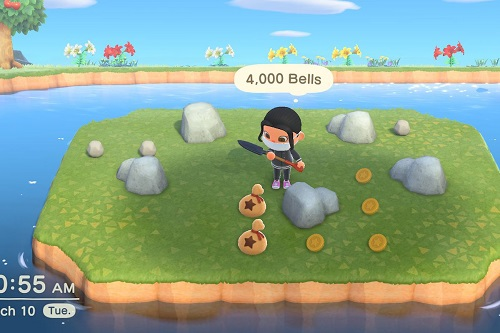 Find Iron Nuggets in Animal Crossing