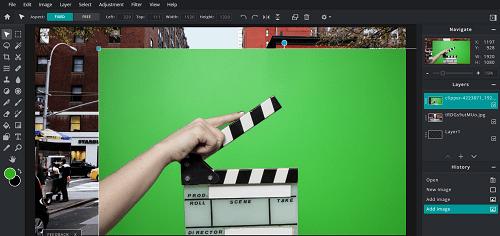 use green screen on pixlr