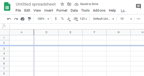 Can Make Row Sticky in Google Sheets