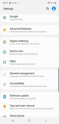 Turn off Bixby on Galaxy Note 10 Plus