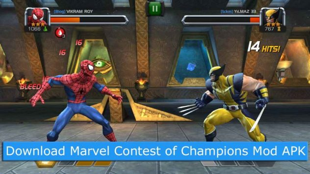 marvel contest of champions modded apk download