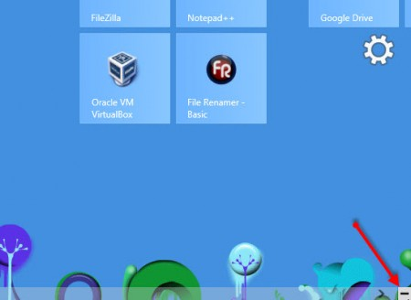 organize windows 8 tiles in groups - click minus icon