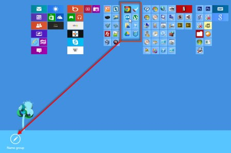 organize windows 8 tiles in groups - name group