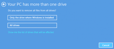 Difference Between Refresh and Reset - choose drive