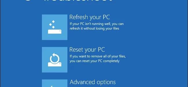 ما الفرق بين Refresh و Reset في الويندوز 8 واللذان يعيدان جهازك لإعدادات المصنع بسهولة؟
