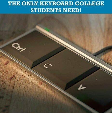 college students keyboard