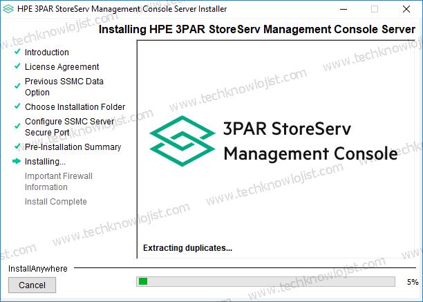 HPe 3par StoreServ Management Console Kurulumu
