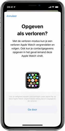 apple watch lost