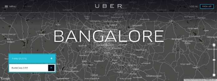 Uber- first launched at Bangalore in India