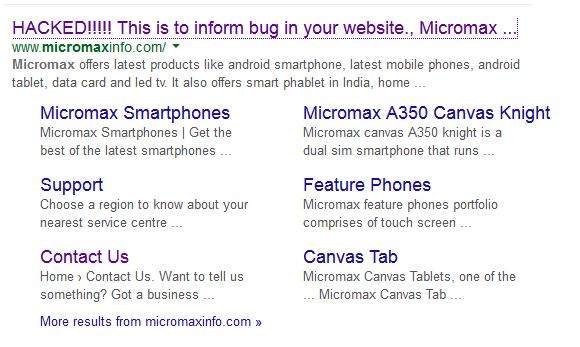 micromax hacked