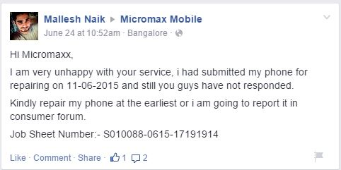 Can Micromax step into the world market with it's poor quality customer service? 5
