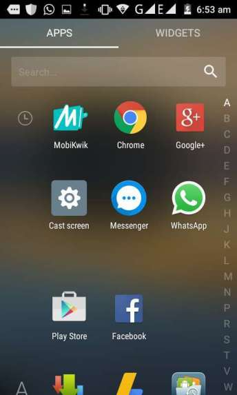 App drawer arrow launcher