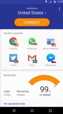 rocket vpn - best vpn for android