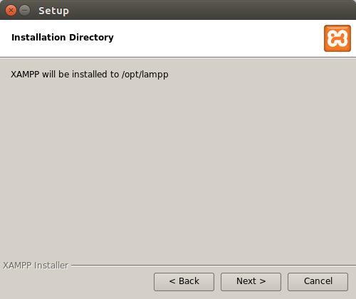 xampp installation directory
