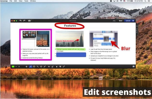 screen recorders for mac - monosnap