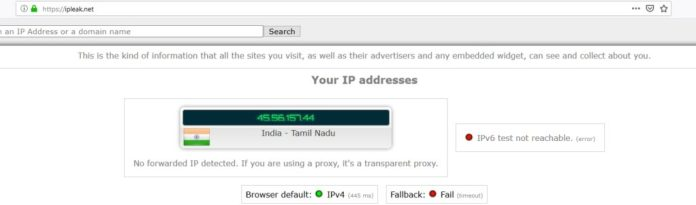ip address leak test