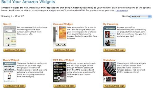 Amazon-widgets