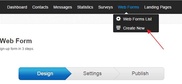 Create-web-form-getresponse