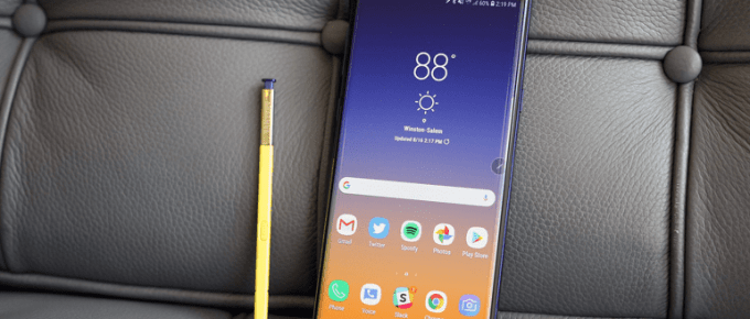 Samsung Galaxy Note 9 Review & Rating