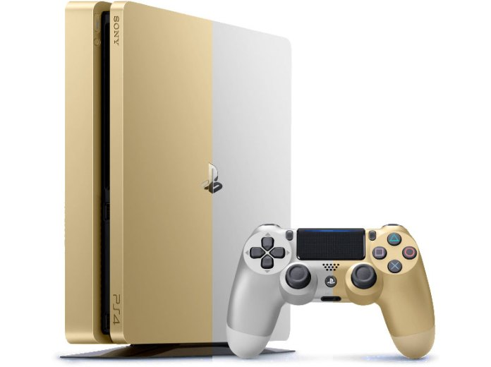 PS4 Slim Goud & Zilver