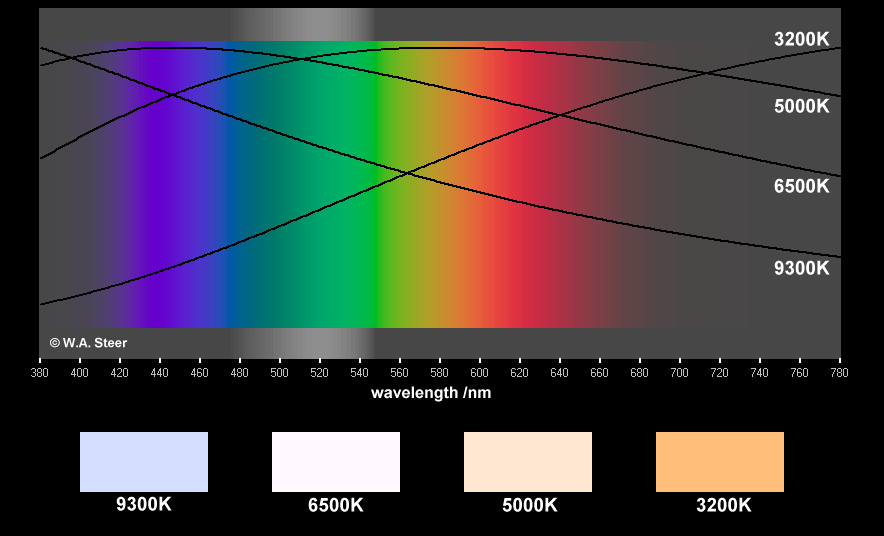 Light Bulb Color Spectrum