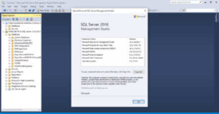 Information about my current SSMS 2016