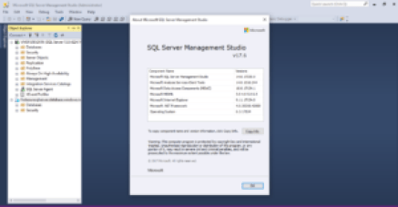 SQL Server Management Studio V17.6