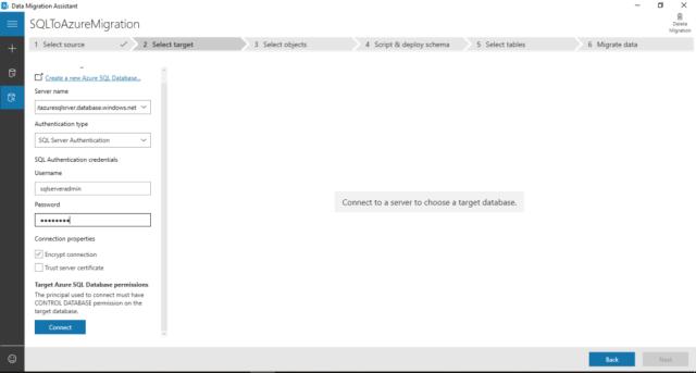 Figure-16 Choose the Target Azure SQL Server