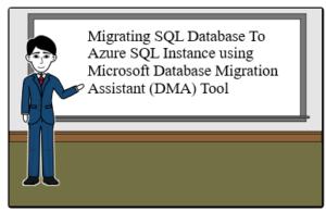Migrating SQL Database To Azure SQL Instance using Microsoft Database Migration Assistant DMA Tool Migrating SQL Database To Azure SQL Instance using Microsoft Database Migration Assistant (DMA) Tool Azure