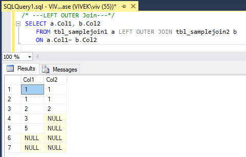 LeftOuterJoin 4 SQL Joins Tricky Interview Questions