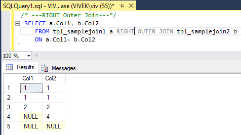 RightOuterJoin 2 SQL Joins Tricky Interview Questions