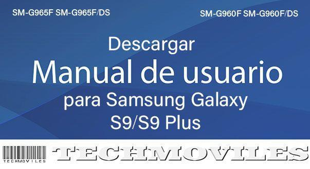Descargar manual de usuario para Samsung Galaxy S9/S9 Plus